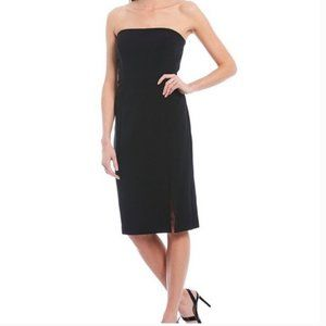 Eliza J little black strapless sheath dress 6